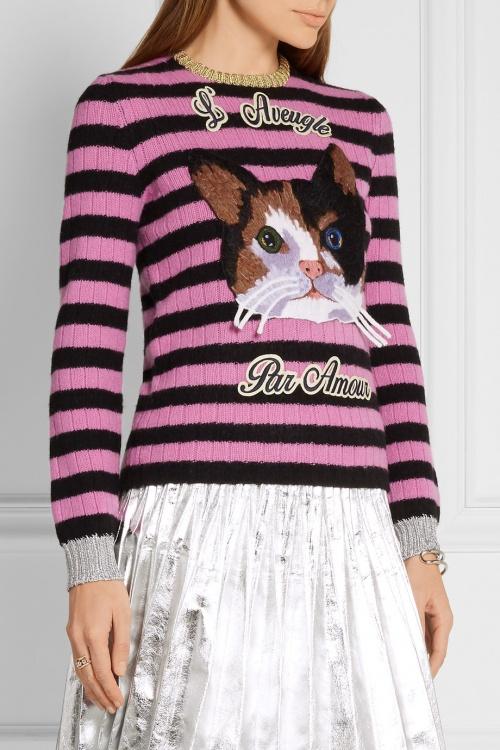 Gucci - Pull en laine et cachemire mélangés
