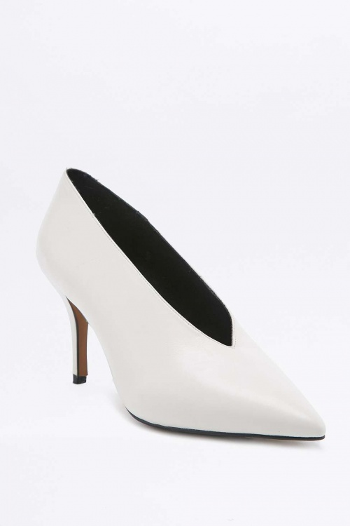 Kylie - Escarpins blanc vintage