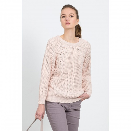 La Redoute - Pull grosse maille rose