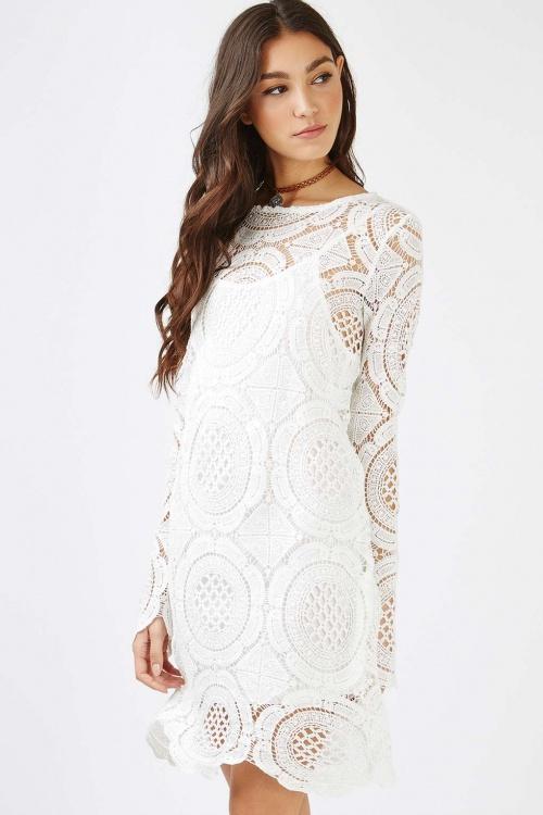 Topshop - Robe blanche en crochet