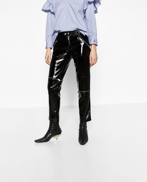 Zara - pantalon vinyl
