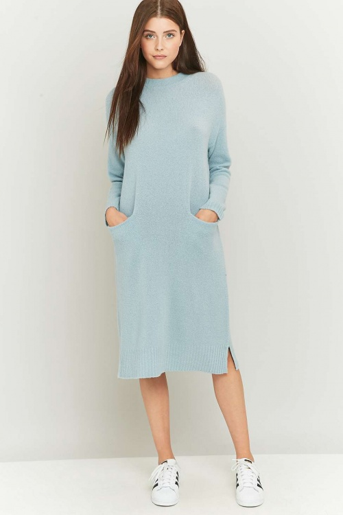 Urban Outfitters  - Robe en maille bleue