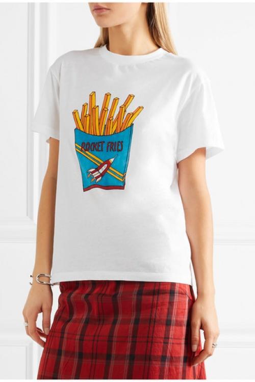 Ganni - t-shirt imprimé frites