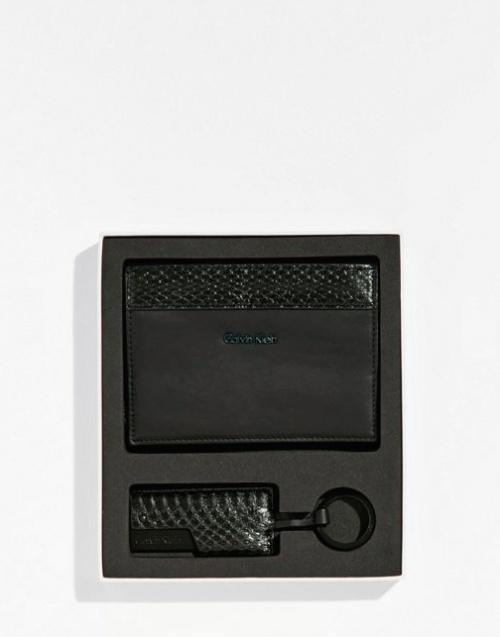 Calvin Klein - Etui de passeport et porte-clés