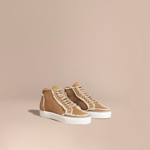 Burberry - sneakers fourrées