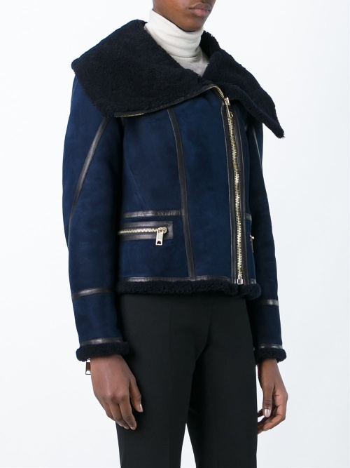 Burberry - shearling court bleu marine