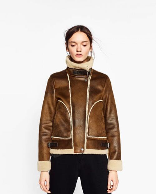 Zara - shearling marron