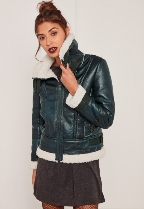 Missguided - shearling vert