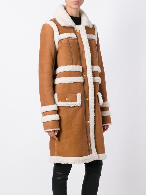 Carven - long shearling brut