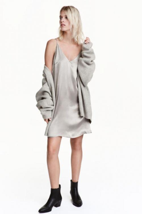 H&M - robe nuisette argentée