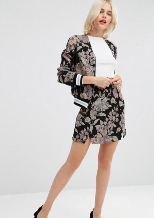 Asos mini jupe motif fleurs
