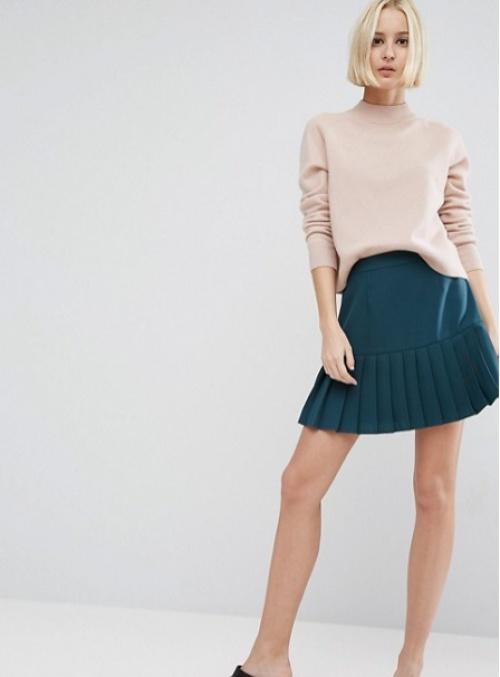 Asos mini jupe bleu