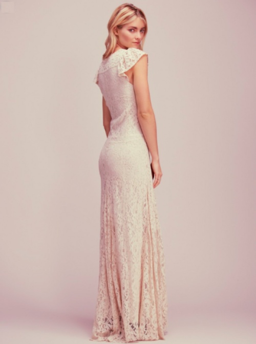Free People - Robe blanche dentelle