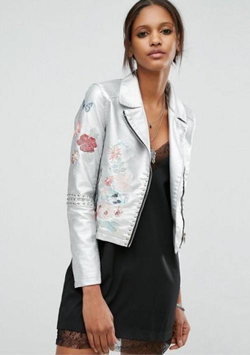 Glamorous veste cuir metallisée