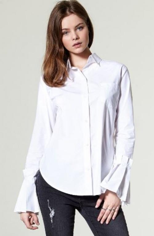 Storets - chemise blanche à manches volantes
