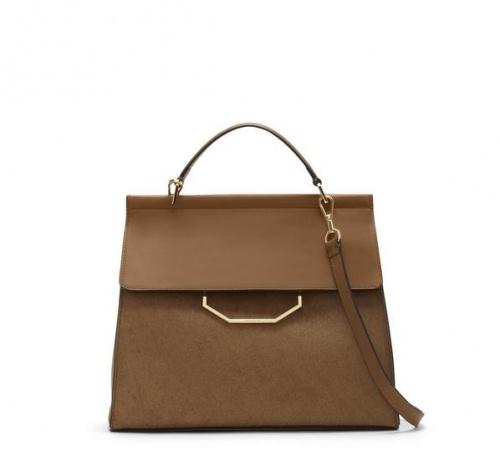 Louise et Cie - sac à main en cuir brun