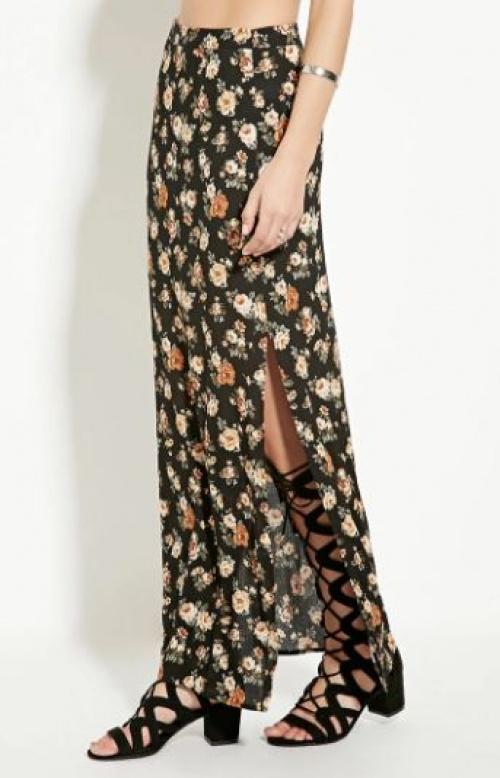 Forever 21 - jupe longue fleurie