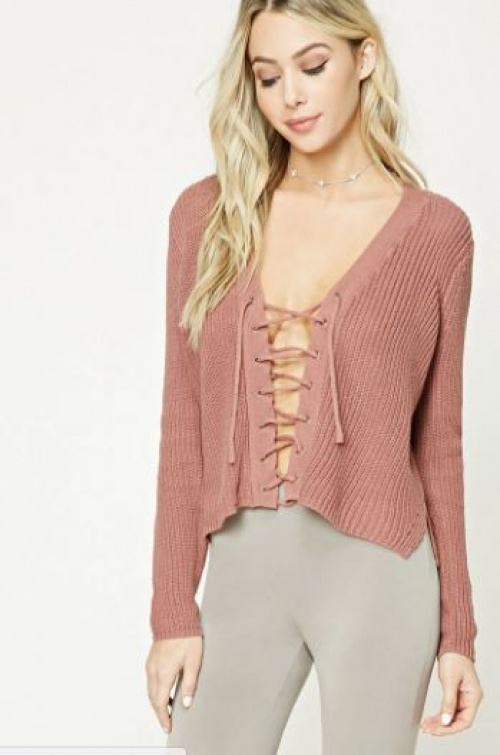 Forever 21 - pull lacé