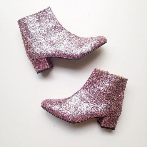 Golden Ponies - boots à paillettes