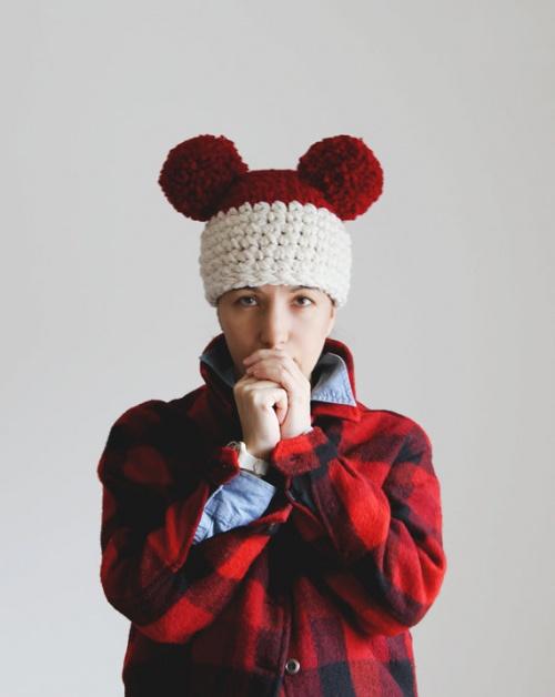 Yokoo - bonnet pompons