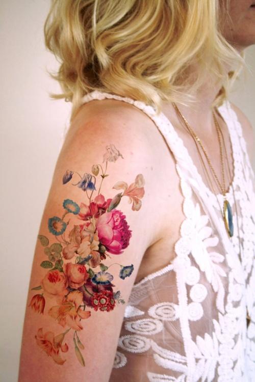 Tattoorary - tatouage éphémère fleurs