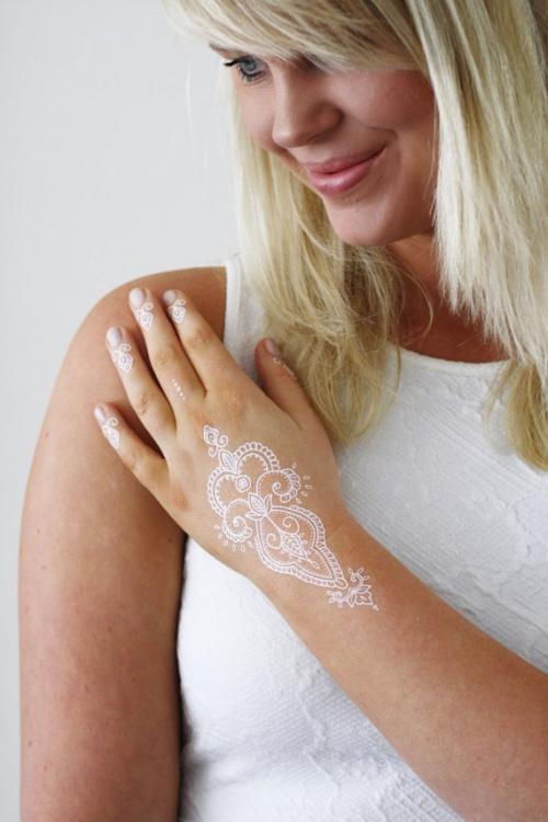 Tattoorary - tatouage éphémère henné blanc