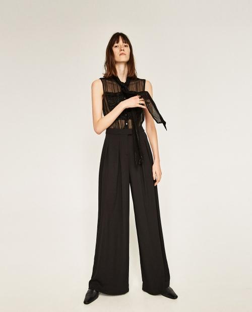 Zara - Combinaison avec chemisier transparent