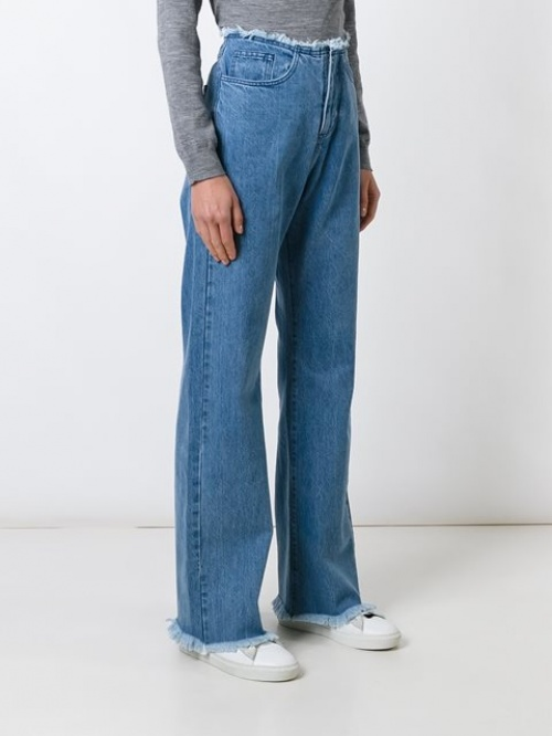 Marques' Almeida - jean flare frangé