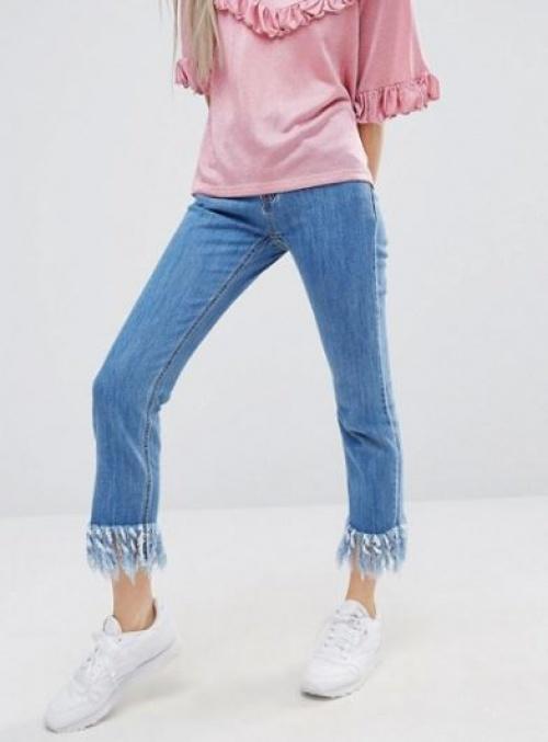 Style Nanda - jean slim effiloché