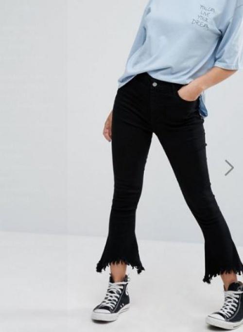 Daisy Street - jean bootcut frangé