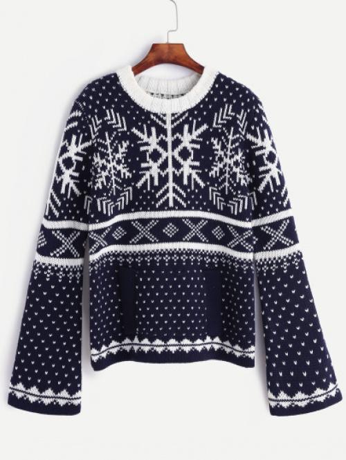 SheIn - Pull de Noël aux manches oversize