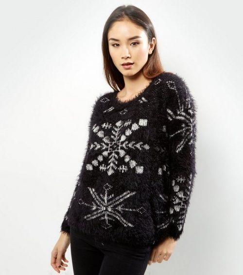 New Look - Pull flocons de neige