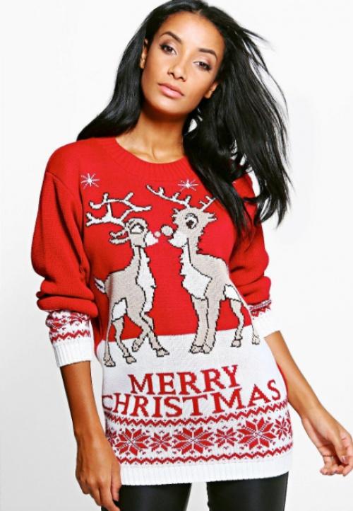 Boohoo - Pull de Noël rennes