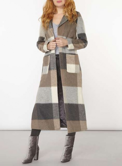 Dorothy Perkins - maxi manteau à carreaux