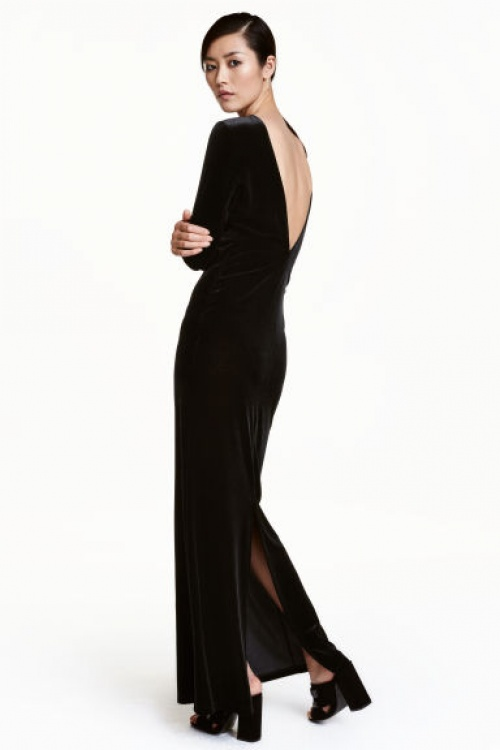 H&M - robe longue velours