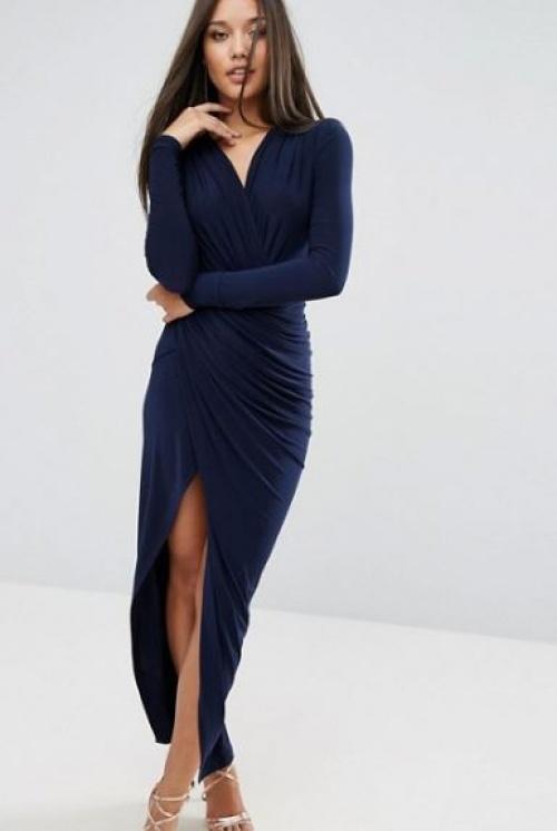 Club L - robe longue drapée