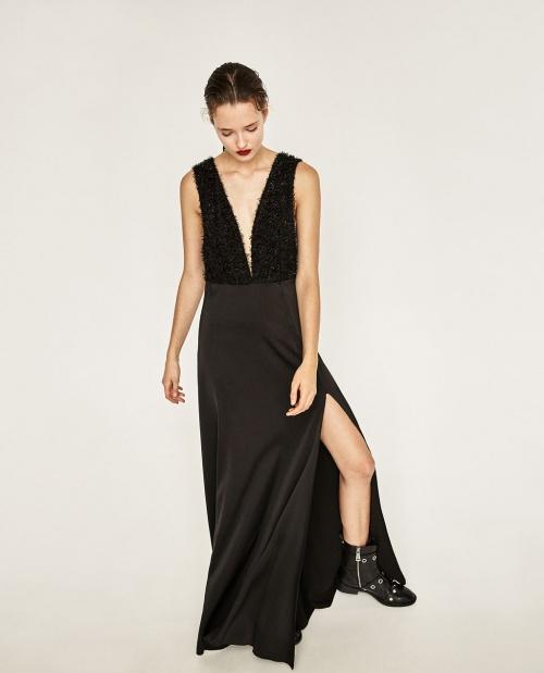 Zara - robe longue à franges