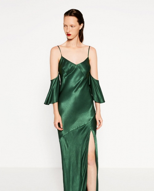 Zara - robe longue satin
