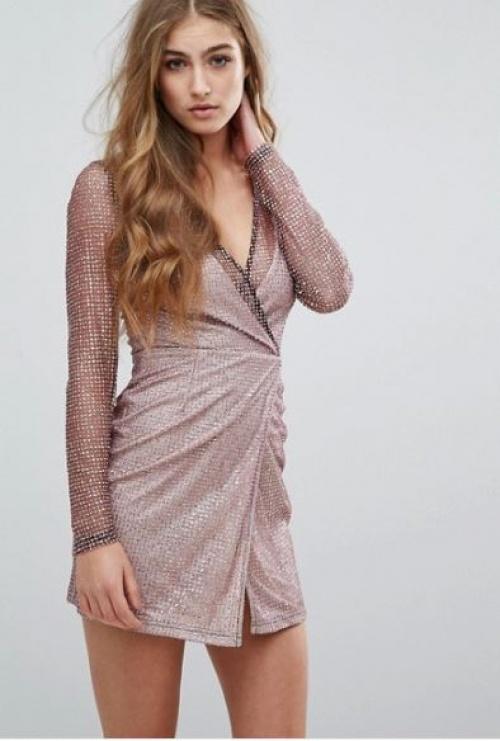 Missguided - robe mini pailletée