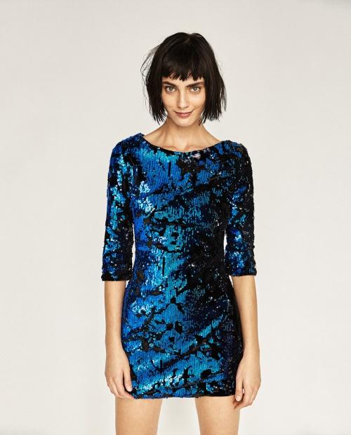 Zara - robe mini à sequins