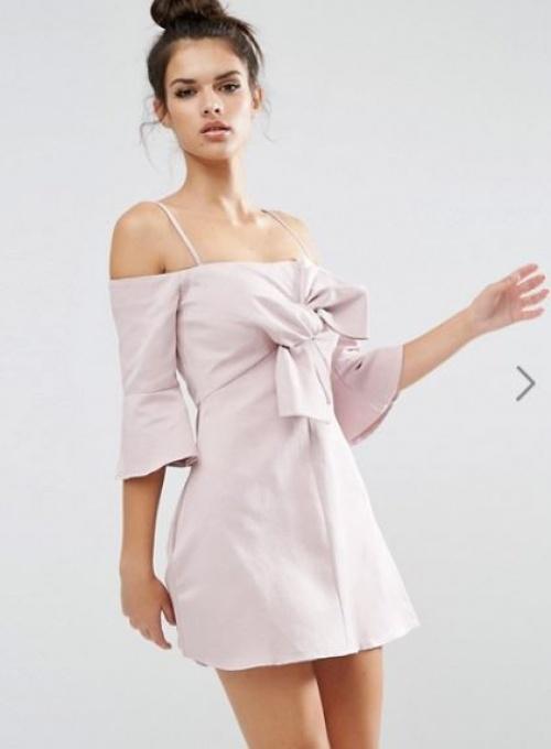 Asos - robe mini à noeud