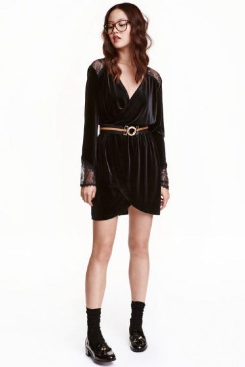 H&M - robe mini en velours