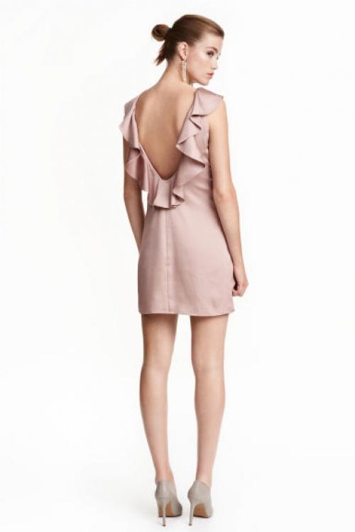 H&M - robe décolletée dans le dos avec volants
