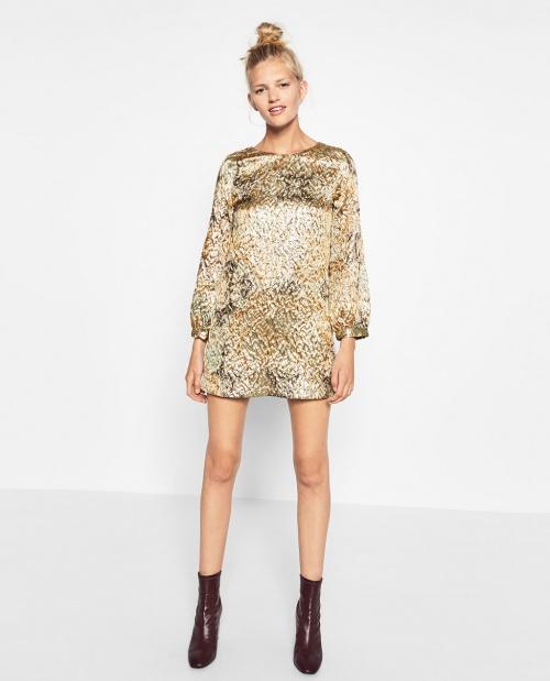 Zara - robe jacquard brillante