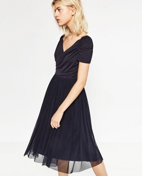 Zara - robe mi-longue ballerine