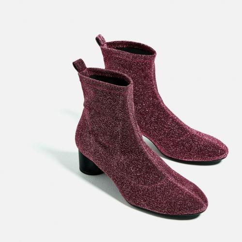 Zara - bottines pailletées