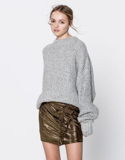 Pull & Bear - jupe métallisée