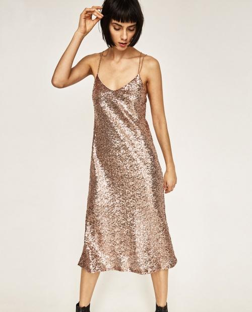 Zara - robe sequins