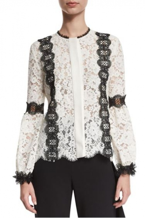 Neiman Marcus - blouse dentelle