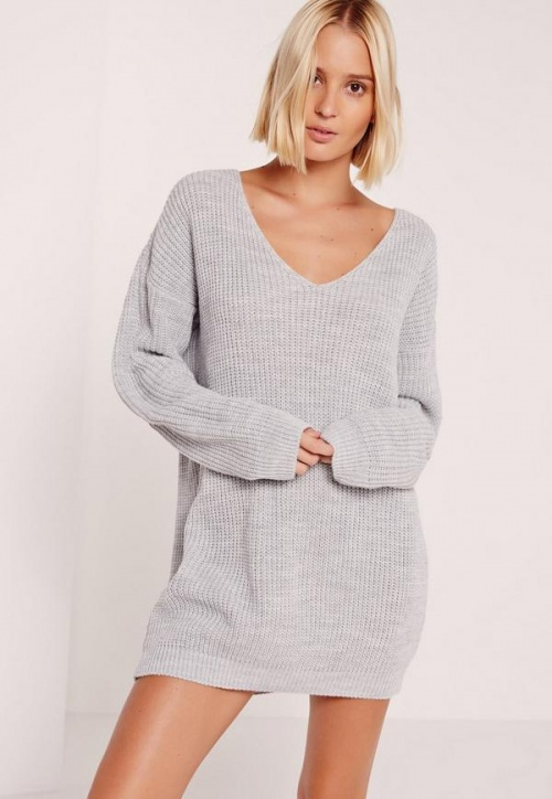 Missguided robe pull décolleté